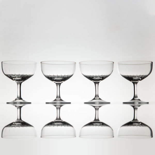 Sert 4 Vintage Champagne Coupes