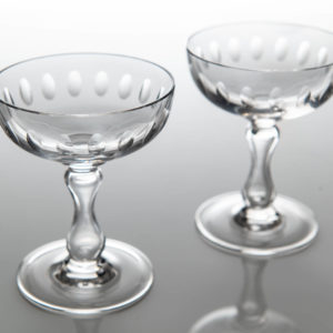 Set 2 Vintage Champagne Coupes