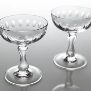 Set 2 Vintage Champagne Coupes