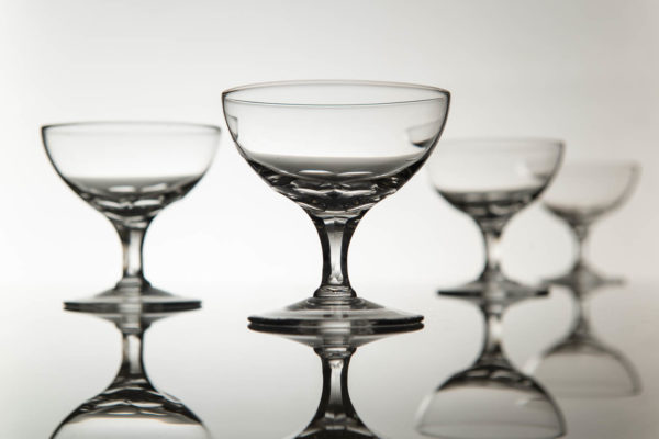 Set 4 Vintage Champagne Coupes