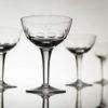 Set 4 Vintage Champagne Coupes