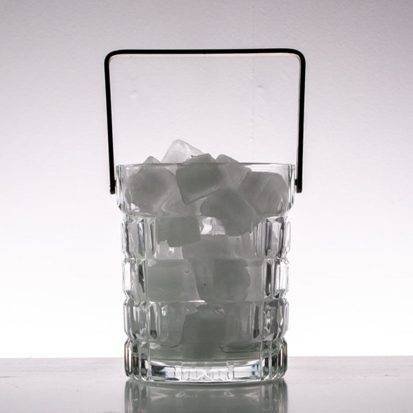 Vintage Crystal Glass Ice Bucket