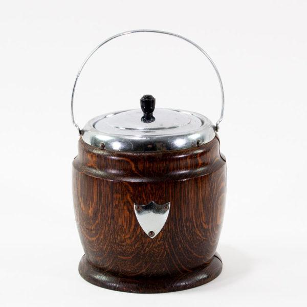 Vintage Mid Century Wooden Ice Bucket