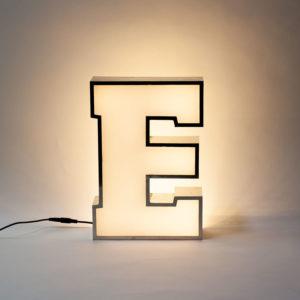 Reclaimed White Letter Light E