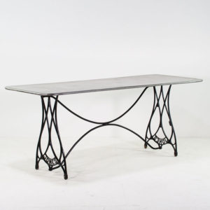 Large Vintage Zinc Topped Table