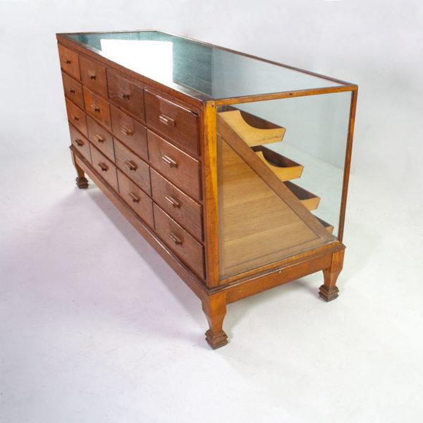 Large Vintage Haberdashery Counter