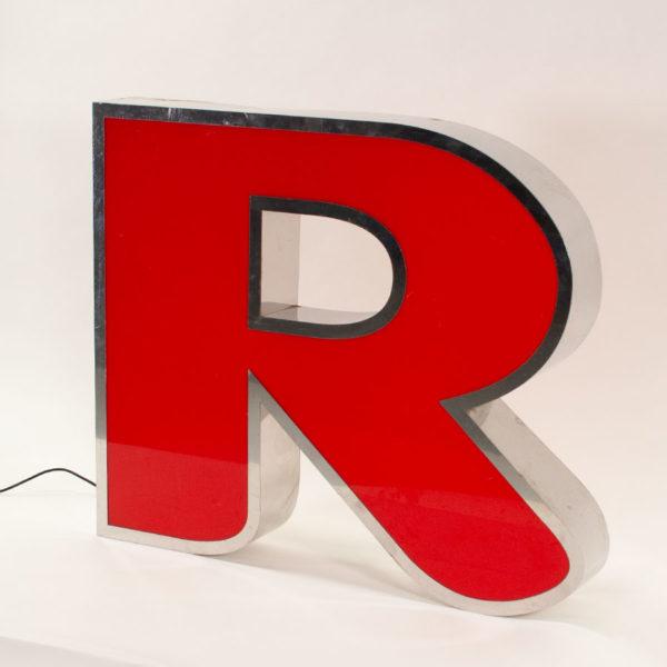 Reclaimed Red Letter Light R