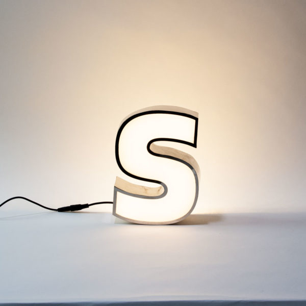 Small Reclaimed Letter Light S