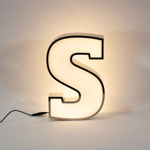 Reclaimed White Letter Light S