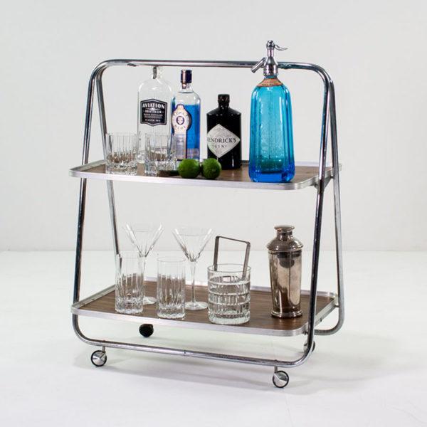 Mid Century Bar Cart