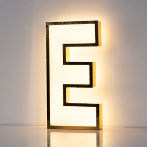 Reclaimed White Letter Light E