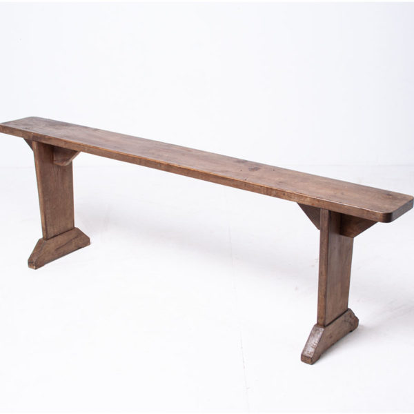 Vintage French Pine Bench