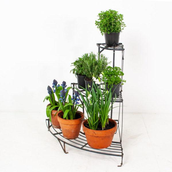 Vintage 3 Tier Corner Plant Stand