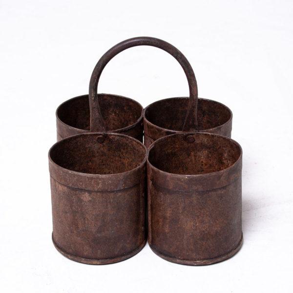 Vintage Rusty Planter Pots