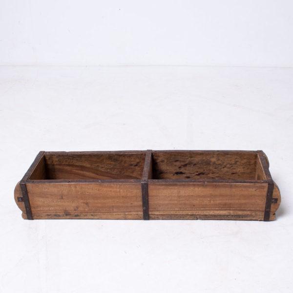 Vintage Wooden Brick Mould Planter