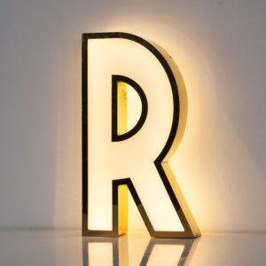 Reclaimed White Letter Light R