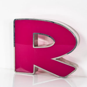 Reclaimed Pink Letter Light R