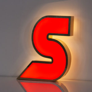 Reclaimed Red Letter Light S