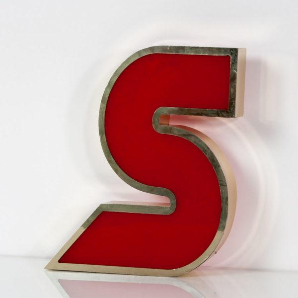 Reclaimed Red Letter Light S