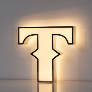 Reclaimed White Letter Light T