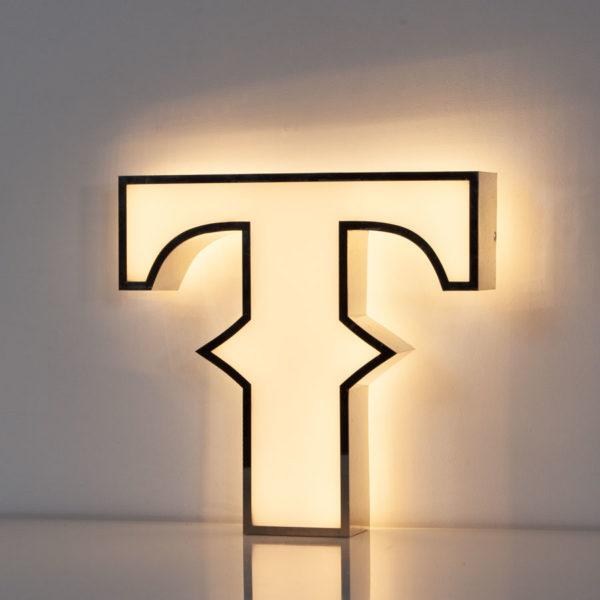 Reclaimed White Letter Light T