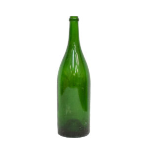 Vintage Oversized Green Glass Wine Bottle