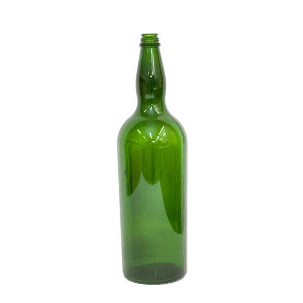 Vintage Oversized Green Glass Wine Bottle