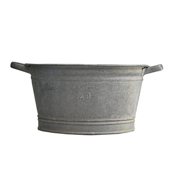 Small Oval Vintage Zinc Planter