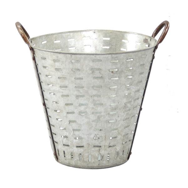 Vintage Olive Basket Planter