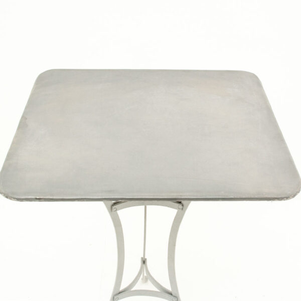 Square Zinc Topped Table