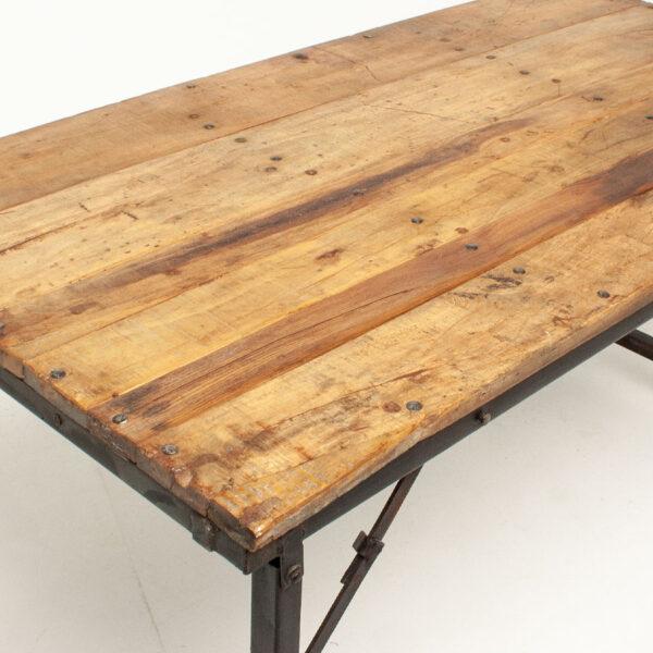 Vintage Industrial Folding Table