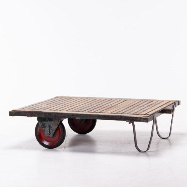 Vintage industrial trolley cart coffee table