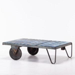 Vintage Industrial Trolley Cart Table