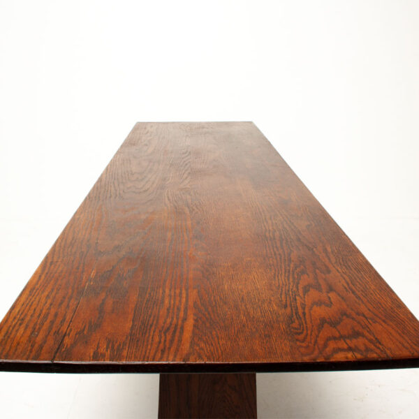 Long Vintage Ash Wood Refectory Table