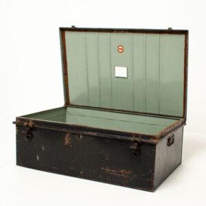 Vintage Military Metal Storage Chest
