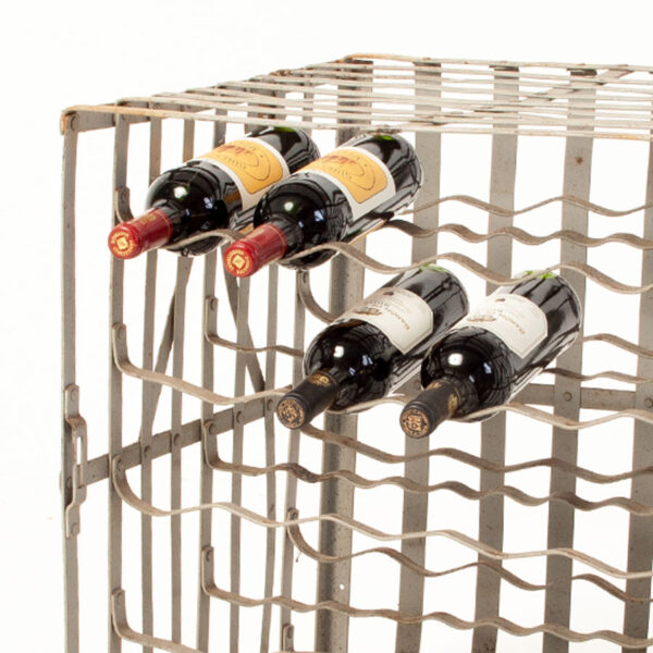 Vintage Industrial Wine Storage Crate