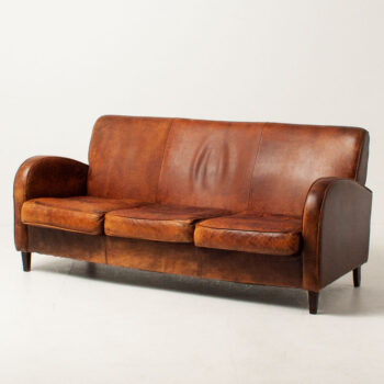 F1190 Mid Century 3 Seater Leather Sofa_8