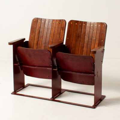 F1207 Vintage Wooden Folding Cinema Seats_4 1