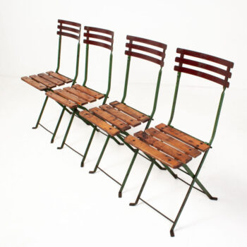 F1244 Set 4 Vintage Folding Garden Chairs_5
